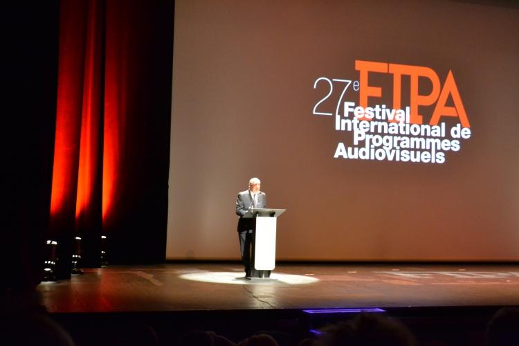 Le président du FIPA, Dider Decoin, lors de la cérémonie d'ouverture