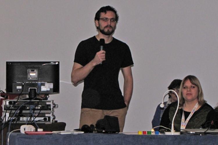 Les deux représentants du laboratoire Apelab - Photo : Sarah Paillou