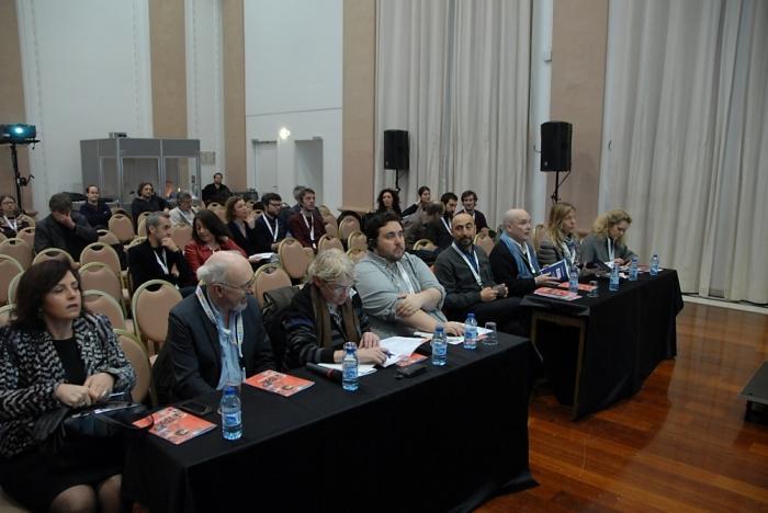 Neufs représentants de chaînes européennes forment le panel jugeant les pitches